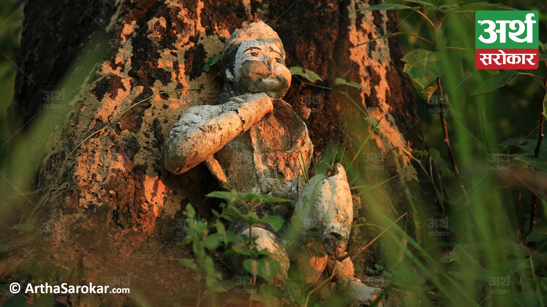 सुनसान जंगलमा भेटियो हराएको मुर्ति, समिती भन्छ-'अब के गर्ने…?'